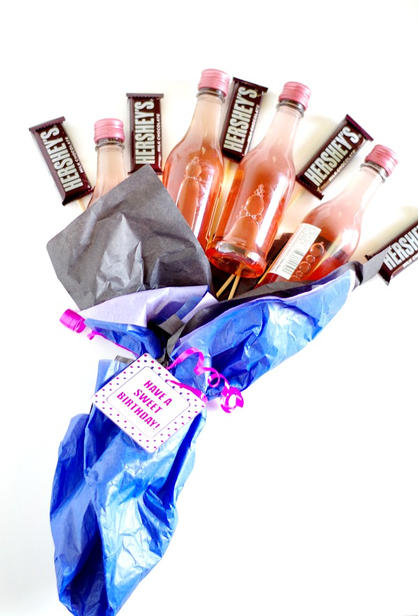 Chocolate and Wine Bouquet Gift