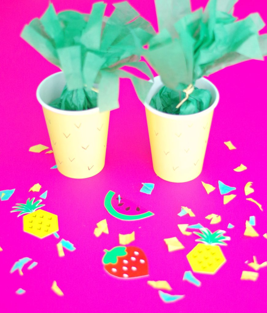 Pineapple Party Favors/Treat Cups