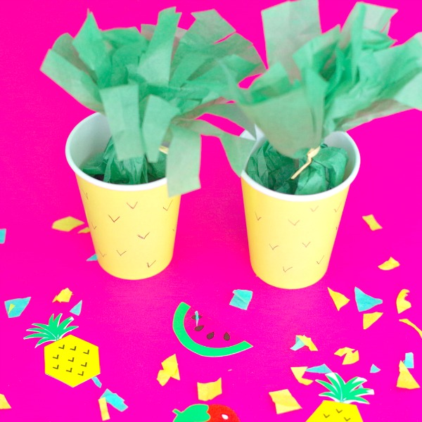 Pineapple Party Favors or Treat Cups