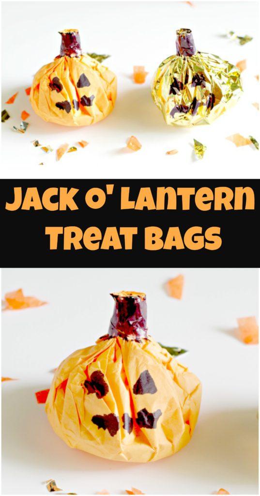Jack O Lantern Treat Bags