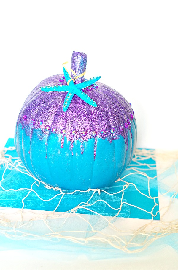 Sparkly DIY Mermaid Pumpkin