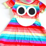 DIY Rainbow Poop Emoji Costume