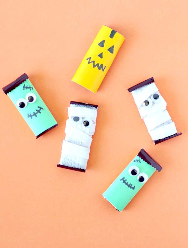 DIY Halloween Candy Bars