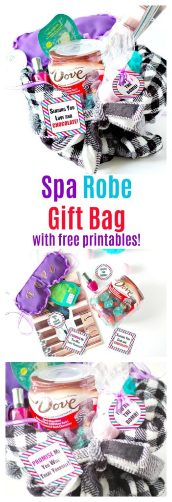 Spa Robe Gift Bag
