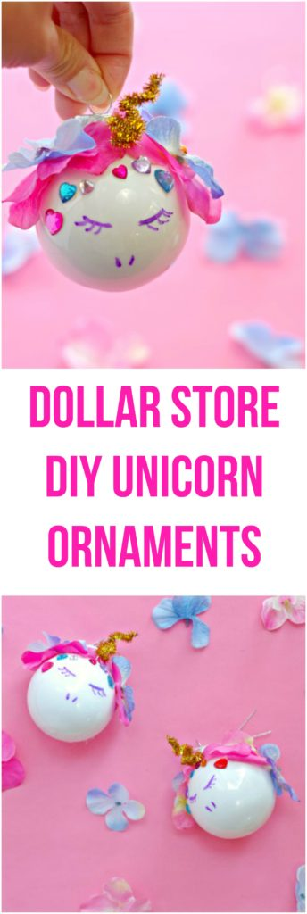 Dollar Store DIY Unicorn Ornaments