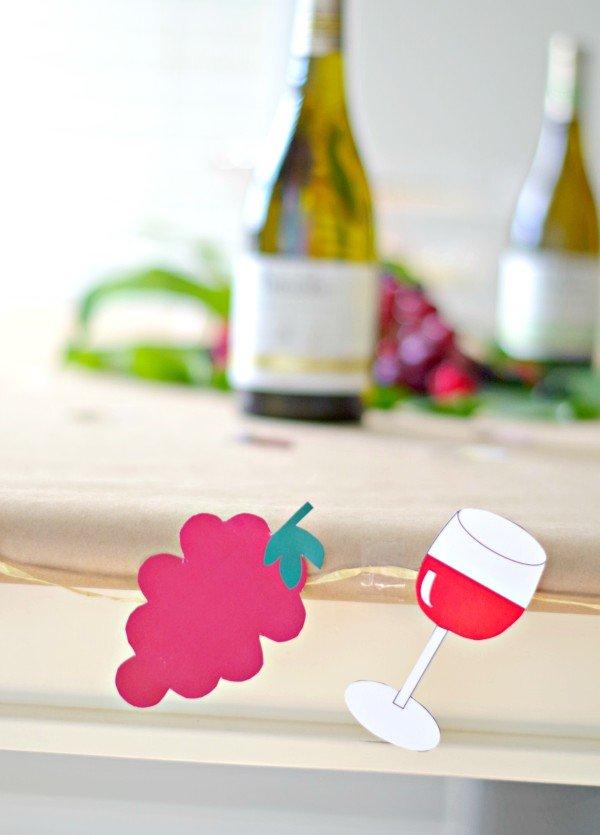 Wine party printable decor