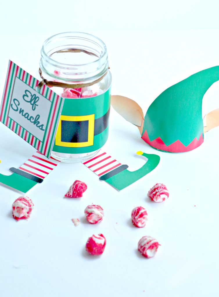 Elf Snacks and Snack Jar Printables