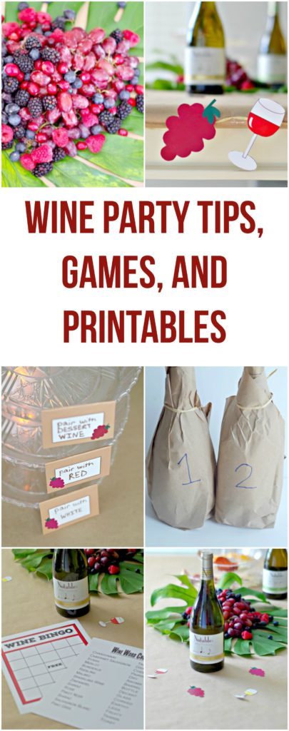 Wine Party Tips, Games, and Printables