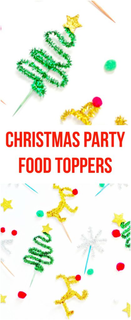 Christmas Party Food Toppers