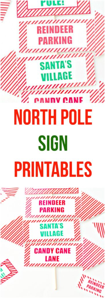 North Pole Sign Printables