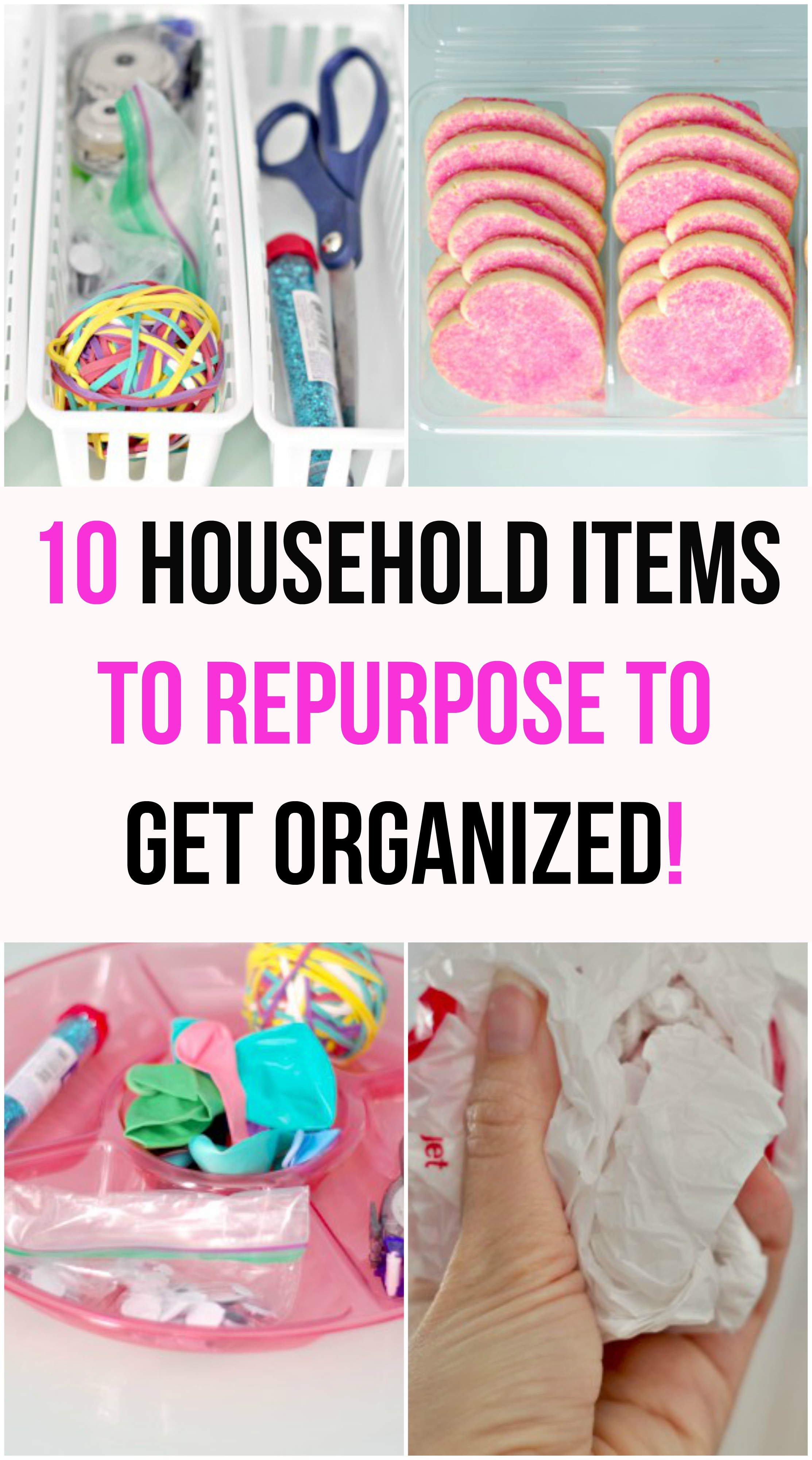 10 household items to repurpose to get organized val for Other uses for household items