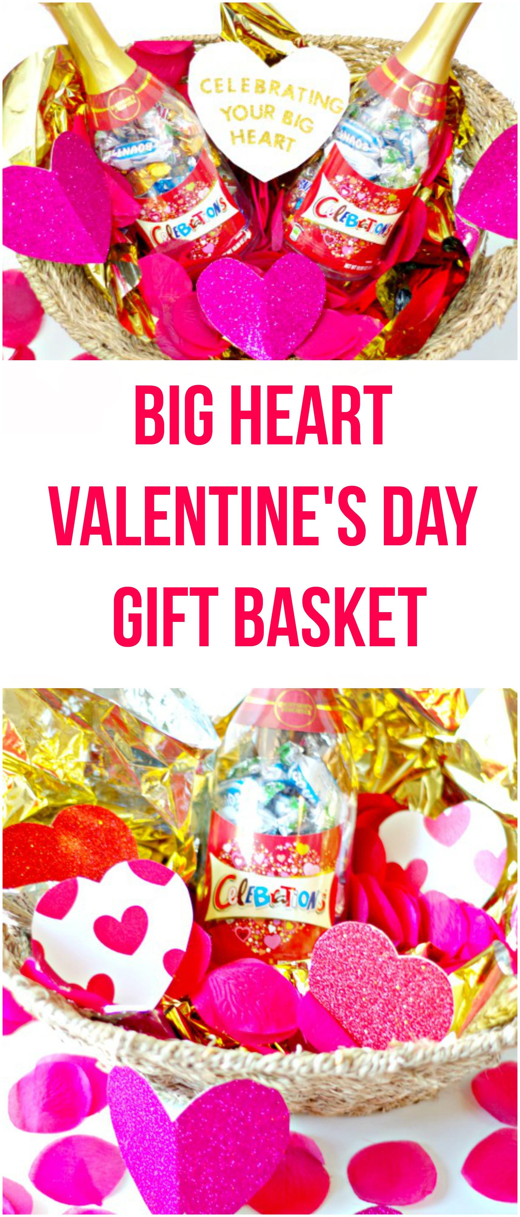 Big Heart Valentineu0027s Day Gift Basket