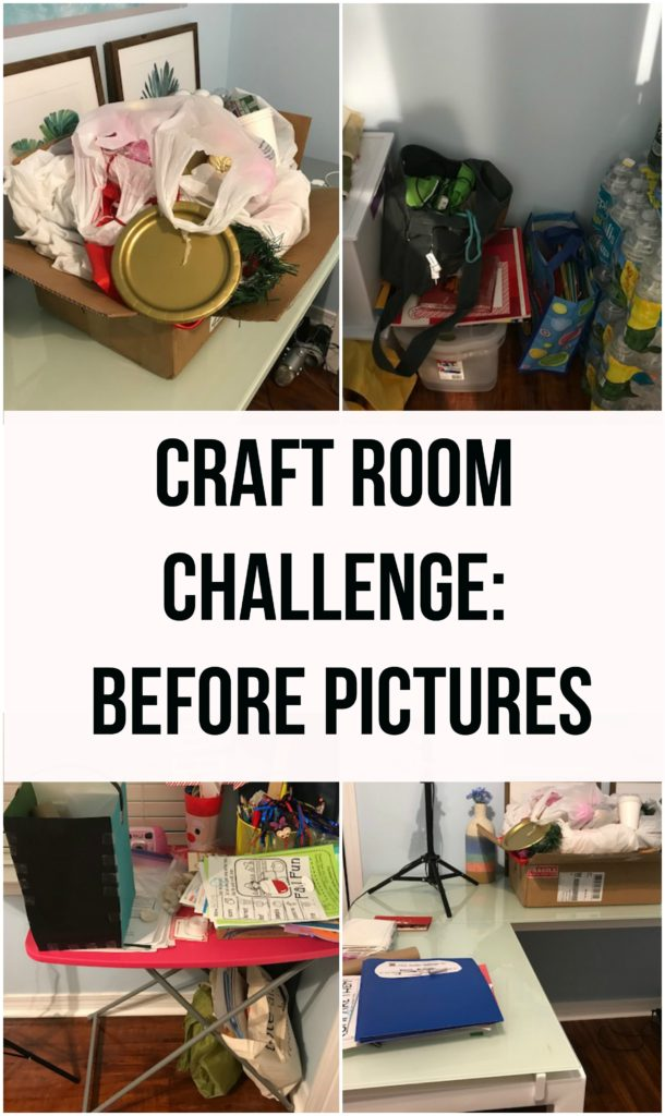 Craft Room Challenge Before Pics