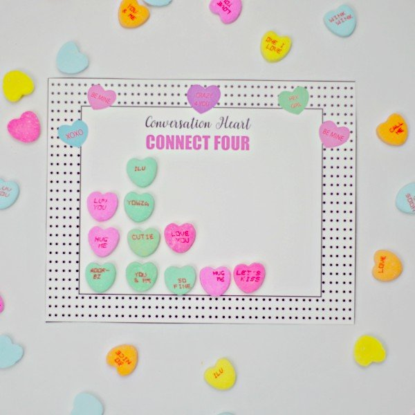 Valentine's Day Game Connect Hearts