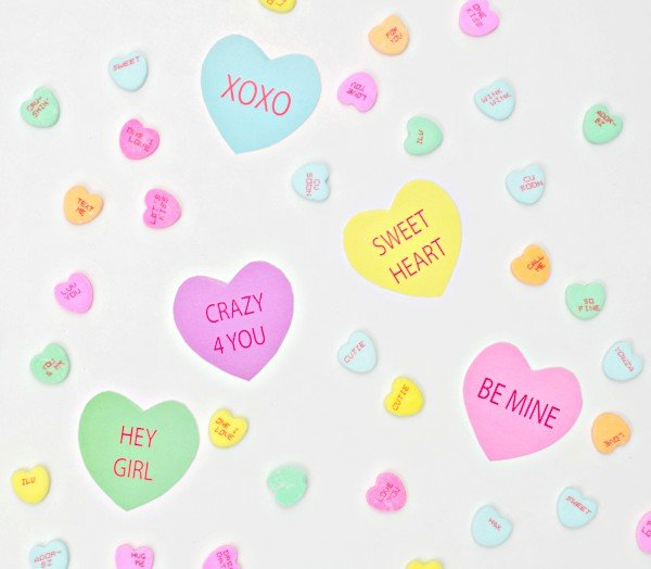 Conversation Heart Decor
