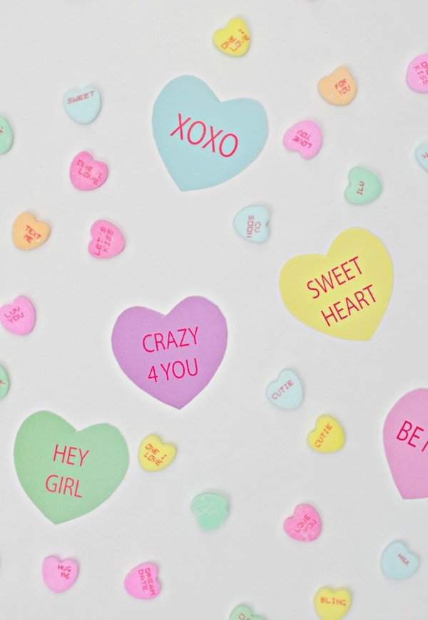 Printable Conversation Heart Decorations