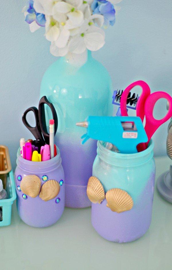 Cute Mermaid Jars