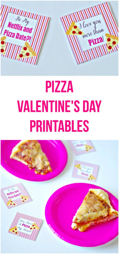 Pizza Valentine's Day Printables