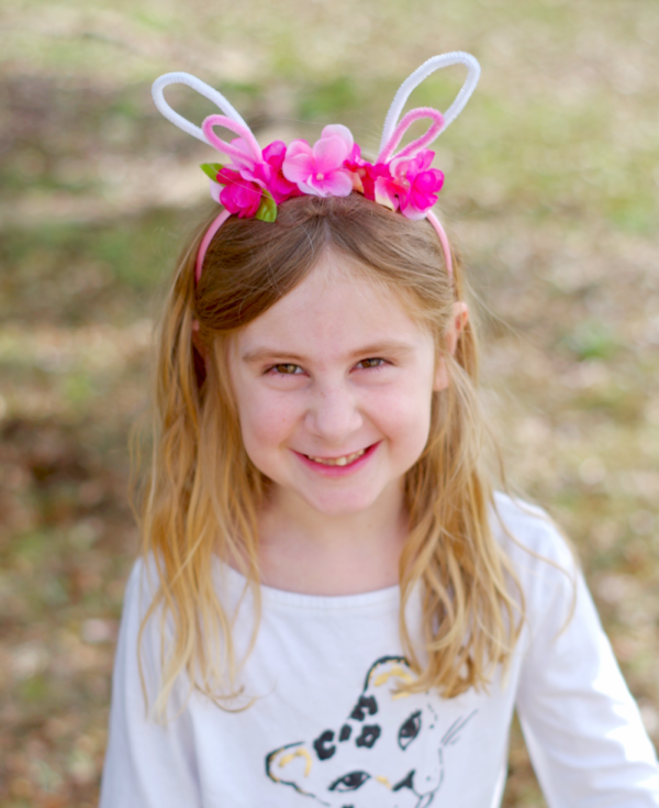 Adorable Floral Bunny Headband
