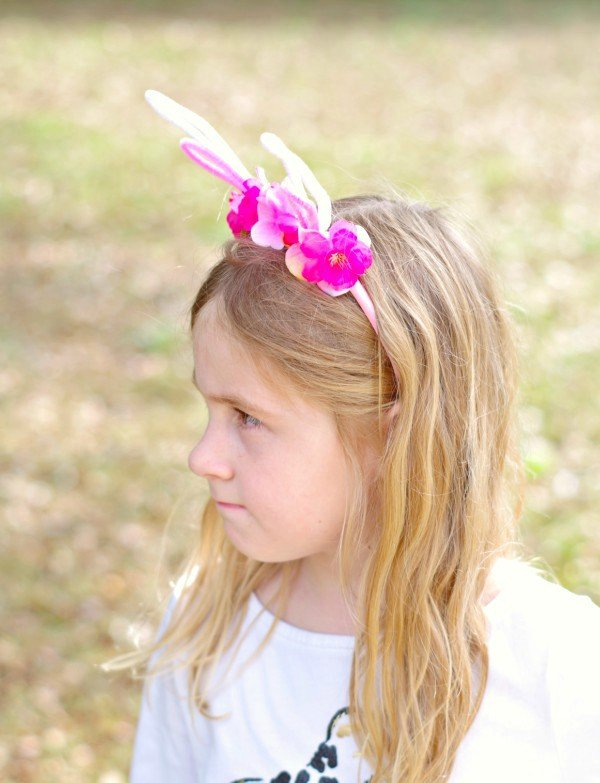 Make your own flower bunny ears