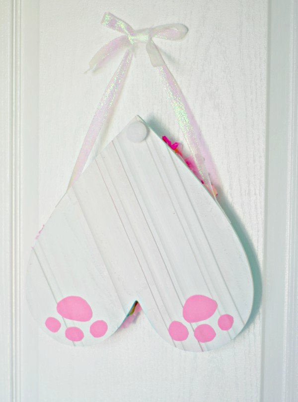 Hanging Bunny Butt Sign