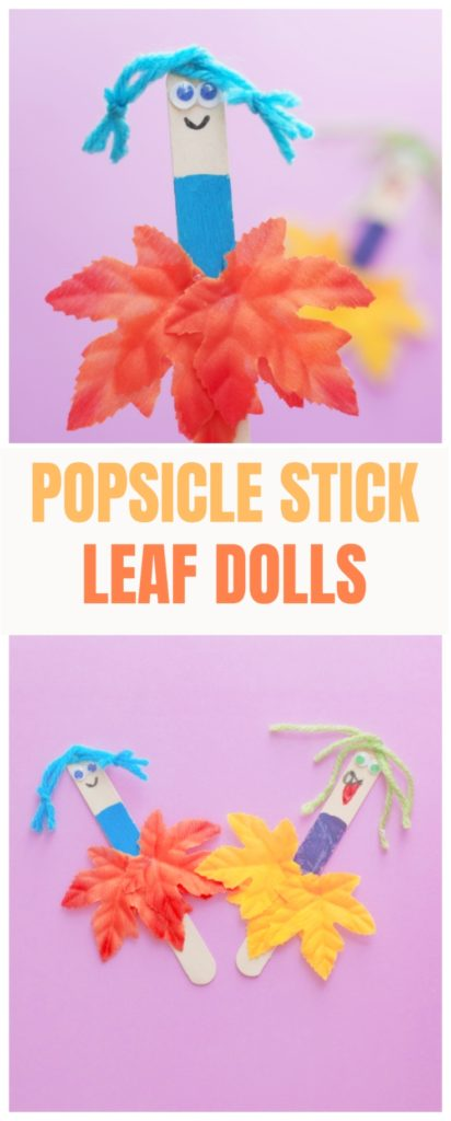Popsicle Stick Leaf Dolls