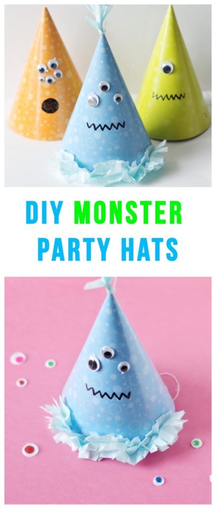 DIY Monster Party Hats