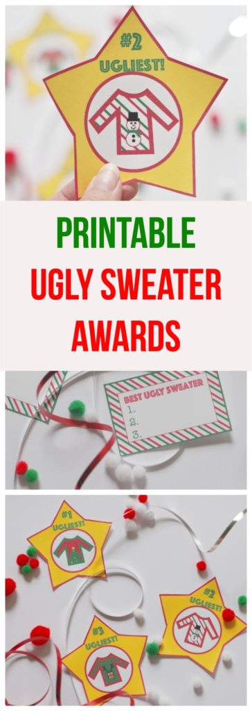 Printable Ugly Sweater Awards